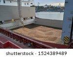 Grain Loading In Hold Of Bulk...