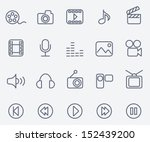 media icons | Shutterstock .eps vector #152439200