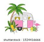Camper  Palm Tree  Banana...