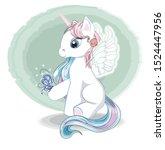 Magic White Unicorn With Wings  ...