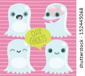 cute ghost set. funny halloween ... | Shutterstock .eps vector #152445068
