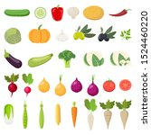 vegetables icons. collection... | Shutterstock .eps vector #1524460220