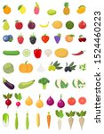 vector fruits and vegetables... | Shutterstock .eps vector #1524460223