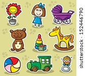 second set of toys. collection ... | Shutterstock . vector #152446790
