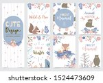 cute boho invitation for kid | Shutterstock .eps vector #1524473609