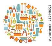 round card with gardening... | Shutterstock .eps vector #152448023