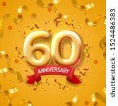 anniversary ceremony balloons ... | Shutterstock .eps vector #1524486383