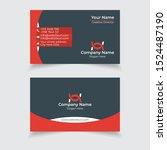 modern dark business card...   Shutterstock .eps vector #1524487190