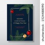 merry christmas abstract vector ...   Shutterstock .eps vector #1524488090
