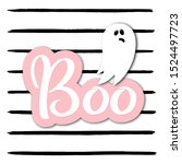 ghost character and boo hand... | Shutterstock .eps vector #1524497723