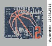 basket ball sport athletic... | Shutterstock .eps vector #1524515816