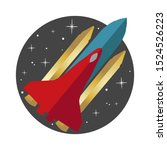 rocket flying on the circle... | Shutterstock .eps vector #1524526223