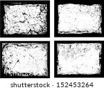 set of grunge frames. vector... | Shutterstock .eps vector #152453264