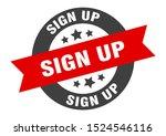 sign up sign. sign up black red ... | Shutterstock .eps vector #1524546116