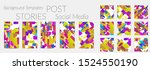creative backgrounds for social ... | Shutterstock .eps vector #1524550190