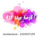 all the best    handwritten...   Shutterstock .eps vector #1524557159