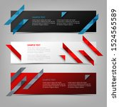 collection abstract banners...   Shutterstock .eps vector #1524565589