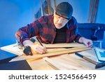 A man working in a carpenter