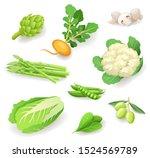 fresh organic vegetables icon... | Shutterstock .eps vector #1524569789