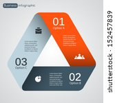 vector triangle infographic.... | Shutterstock .eps vector #152457839