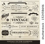 vector vintage style elements | Shutterstock .eps vector #152458646