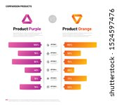 comparison infographic. bar... | Shutterstock . vector #1524597476