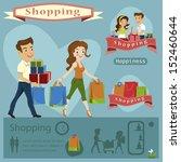 woman man shopping.infographi... | Shutterstock .eps vector #152460644