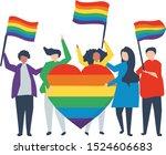 illustration of lgbt eps  gay... | Shutterstock .eps vector #1524606683