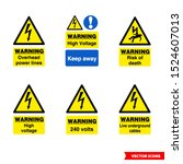 electrical hazard signs icon... | Shutterstock .eps vector #1524607013