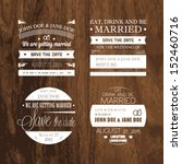 set of wedding typography | Shutterstock .eps vector #152460716