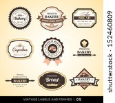 vector set of vintage bakery... | Shutterstock .eps vector #152460809