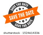 save the date sign. save the... | Shutterstock .eps vector #1524614336