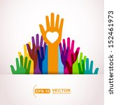 colors hands up | Shutterstock .eps vector #152461973