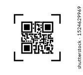 scanning black round simple qr...