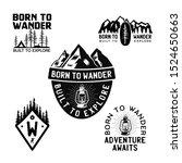 vintage camp logos  mountain... | Shutterstock .eps vector #1524650663