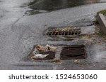 Flow Of Water During Heavy Rain ...