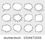 comic speech bubbles vector.... | Shutterstock .eps vector #1524671033