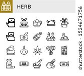 set of herb icons. such as... | Shutterstock .eps vector #1524671756