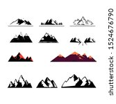 logo with mountains.... | Shutterstock .eps vector #1524676790