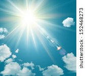 Realistic Shining Sun With Len...
