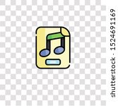 music file icon sign and symbol....