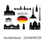 berlin famous tourist places....   Shutterstock .eps vector #1524698720