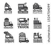 food truck car. street catering ... | Shutterstock . vector #1524704099