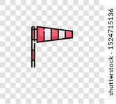 Windsock Icon Sign And Symbol....