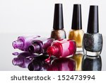 bottles with nail polish over... | Shutterstock . vector #152473994