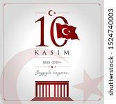 10 kasim vector illustration. ... | Shutterstock .eps vector #1524740003