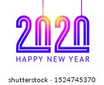 trendy holiday 2020 text design ... | Shutterstock .eps vector #1524745370