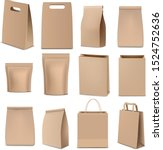 brown paper bags and packaging... | Shutterstock .eps vector #1524752636
