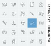 anatomic icons set with... | Shutterstock . vector #1524756119