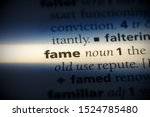 fame word in a dictionary. fame ... | Shutterstock . vector #1524785480